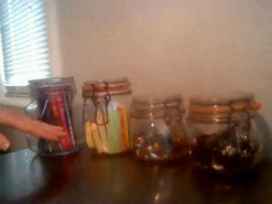 Re-using mason jars with The FUN Organizer!  Get De-cluttered with www.DreamSpaceOrganizing.com
